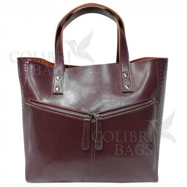 Женская кожаная сумка CELEBRITY PITON. Лиловый темный.