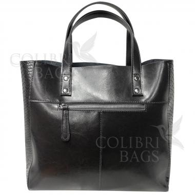 Женская кожаная сумка CELEBRITY PITON. Пепельный.