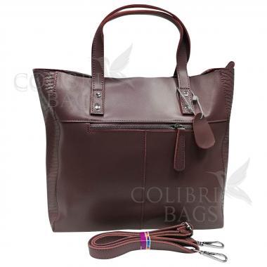 Женская кожаная сумка CELEBRITY ЗАМША ПИТОН. Пудровый.