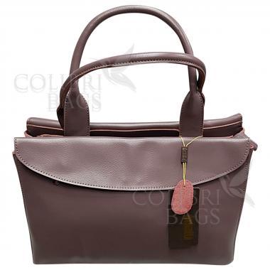 Женская кожаная сумка-портфель City Classic. Лиловый
