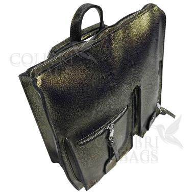 Кожаный рюкзак-сумка COMANDOR. ХАМЕЛЕОН.