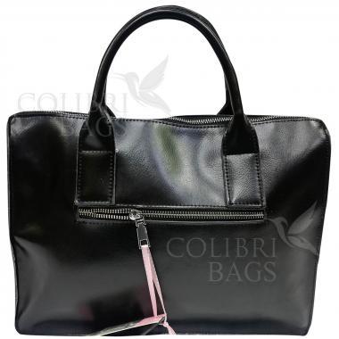 Женская кожаная сумка Comandor bag. Черный.