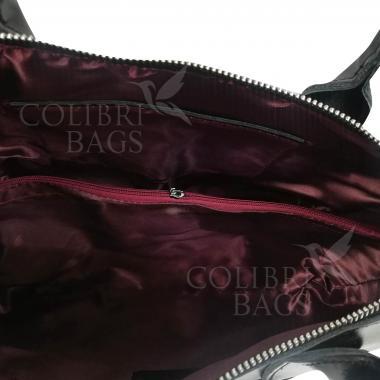 Женская кожаная сумка Comandor bag. Ежевичный.