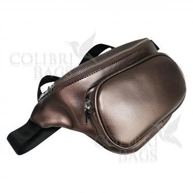 Женская кожаная поясная сумка Corsica. Бронза