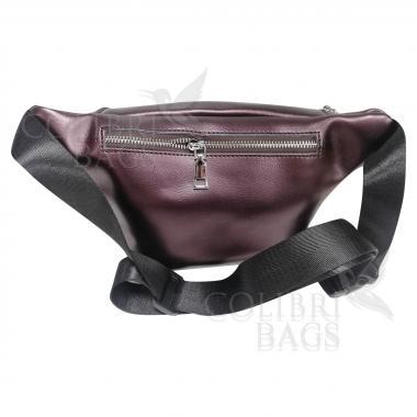 Женская кожаная поясная сумка Corsica. Кофе жемчужный