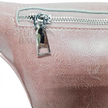 Женская кожаная поясная сумка Corsica. Лиловый