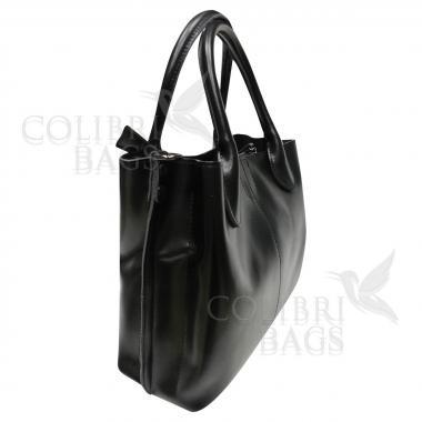 Женская кожаная сумка CUBA. Черный