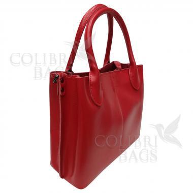 Женская кожаная сумка CUBA. Красный