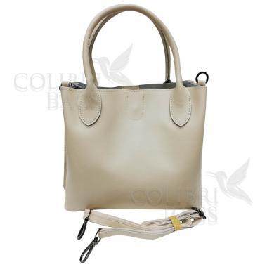 Женская кожаная сумка CUBA. Слоновая кость