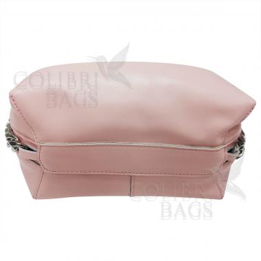 Женская кожаная сумка Dolce. Нежно-розовый