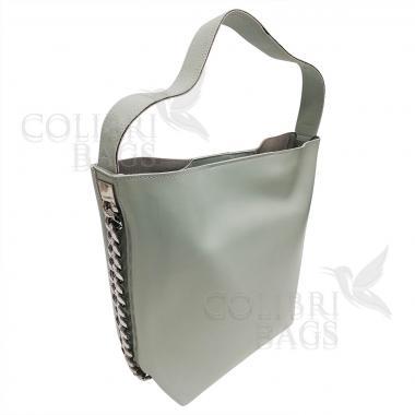 Женская кожаная сумка Dolce. Мятный
