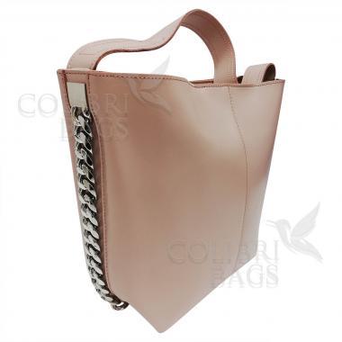 Женская кожаная сумка Dolce. Бежевый