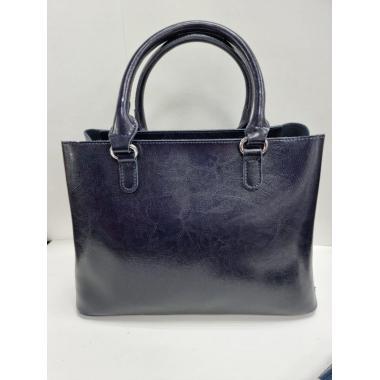 Женская кожаная сумка Dora. Темно-синий