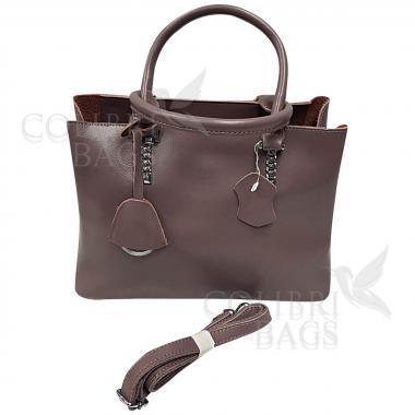 Женская кожаная сумка Dora. Лиловый