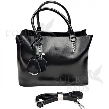 Женская кожаная сумка Dora. Черный