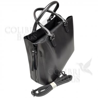 Женская кожаная сумка Dora. Пудровый