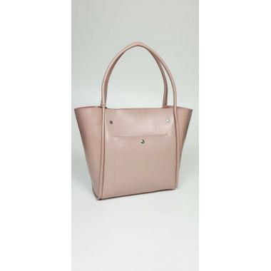 Женская кожаная сумка Doris Leto. Пудровый.