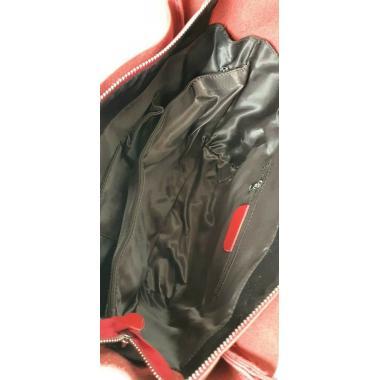 Женская кожаная сумка Doris Leto. Красный.