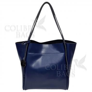 Женская кожаная сумка Doris. Темно-синий