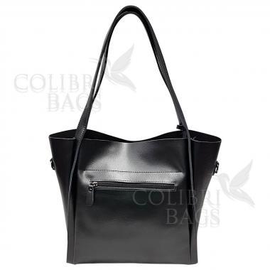 Женская кожаная сумка Doris. Черный