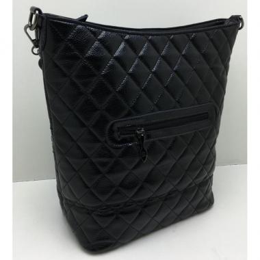 Женская кожаная сумка DRAMA. Черный