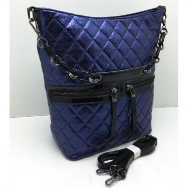 Женская кожаная сумка DRAMA. Сапфир