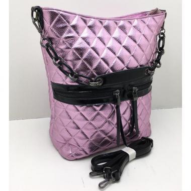 Женская кожаная сумка DRAMA. Сирень