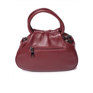 Женская кожаная сумка DRAMY. Винный.