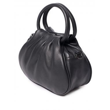 Женская кожаная сумка DRAMY. Пепельный.