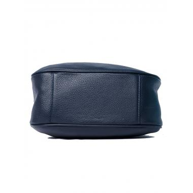 Женская кожаная сумка DRAMY. Темно-синий.