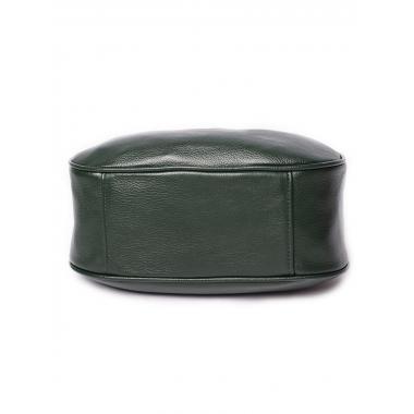 Женская кожаная сумка DRAMY. Темно-зеленый.