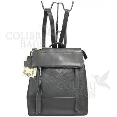 Кожаный рюкзкак-трансформер Dyngo. Серый