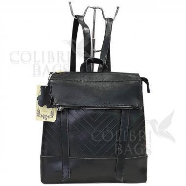 Кожаный рюкзкак-трансформер Dyngo. Черный