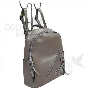 Кожаный рюкзкак-трансформер Endy. Серый