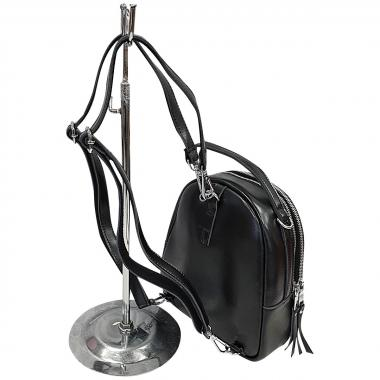 Кожаный рюкзкак-трансформер Falcon. Черный