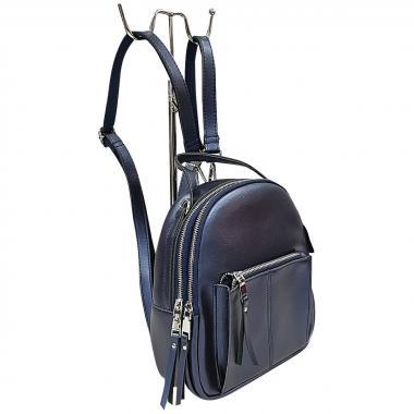 Кожаный рюкзкак-трансформер  Falcon. Сапфир