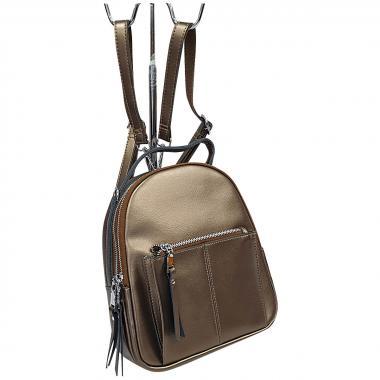 Кожаный рюкзкак-трансформер  Falcon. Бронза