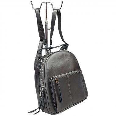 Кожаный рюкзкак-трансформер   Falcon. Стальной