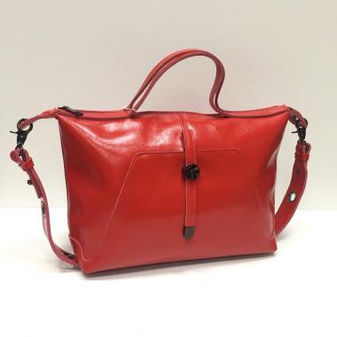 Женская кожаная сумка FASSIO. Красный.