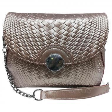Женская кожаная сумка Fiona. Жемчуг.