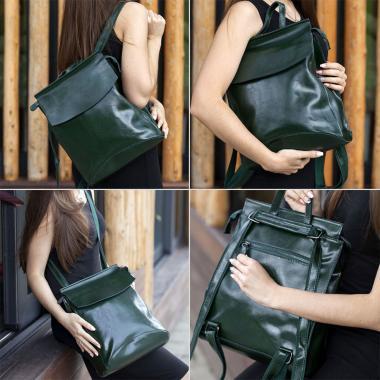 Рюкзак-трансформер Classic. Темно-зеленый