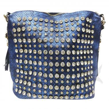 Женская кожаная сумка Friday. Сапфир