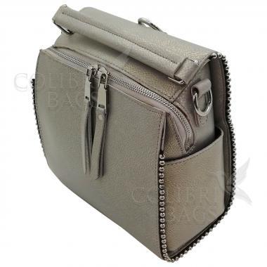 Рюкзак-трансформер FRILLY. Серый перламутр.