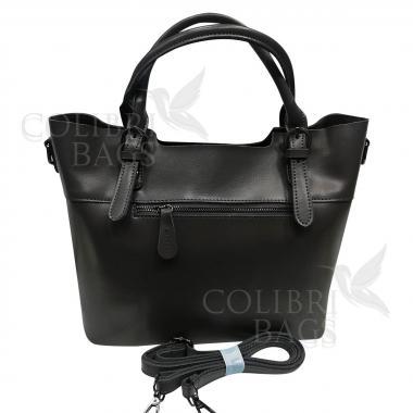 Женская кожаная сумка FUDZI ЗАМША. Пепельный