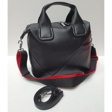 Женская кожаная сумка-тоут GALATEA. ЧЕРНЫЙ.
