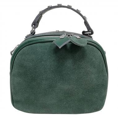 Женская кожаная сумка GARDA. Темно-зеленый