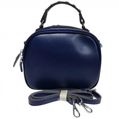 Женская кожаная сумка GARDA. Темно-синий
