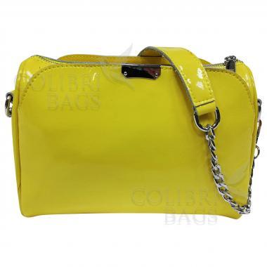 Женская кожаная сумка Giorgia. Лимонный.