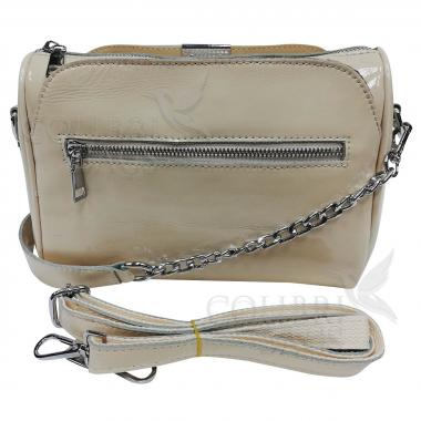 Женская кожаная сумка Giorgia. Слоновая кость.