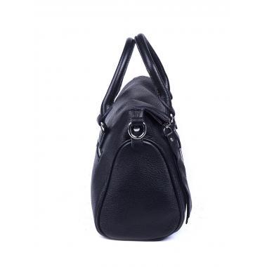 Женская кожаная сумка GIORO. Черный